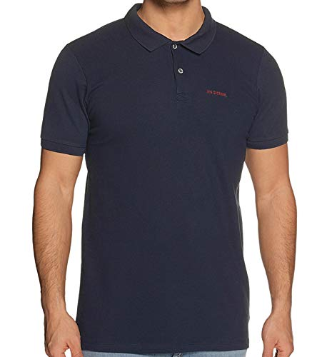Ben Sherman Shirt bequemes Poloshirt Herren Polo-Hemd Shortsleeve Freizeithemd Dunkelblau, Größe:S