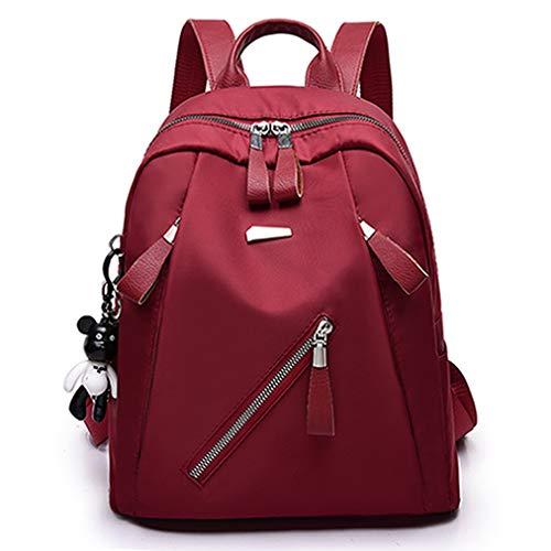 VHVCX Oxford Tuch Wasserdichte Umhängetasche Weibliche Mode Lässig Im Freien Mehrzweck-Reisetasche, Rotwein