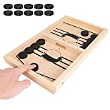 Jhua Family Board Games Set, Wooden Ludo Board Game Catapult Kit for Kids, Cooperative Board Games for Table Party Home Interactive Educational Toys