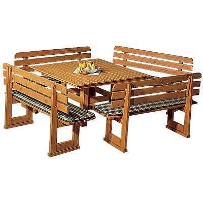 GASPO Table Rustique Bregenz 130 x 130 cm sans Coussins