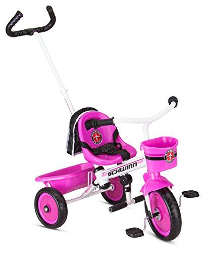 Schwinn Roadster Kids Tricycle, Easy Steer Tricycle, Pink