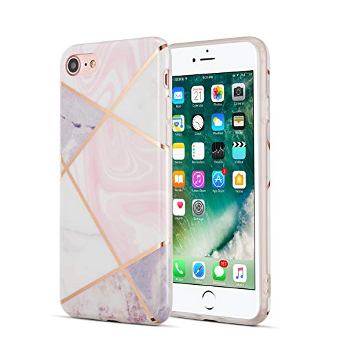 DEFBSC Simple Marble Case iPhone 6-7Plus, TPU, Rosa, iPhone 7/iPhone 8