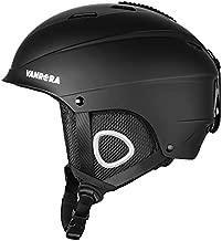 VANRORA Ski Helmet, Snowboard Helmet, Climate Control Venting, Dial Fit, Goggles Compatible, Removable Fleece Liner and Ear Pads, Safety-Certified Snow Helmet for Men & Women (Black, L)