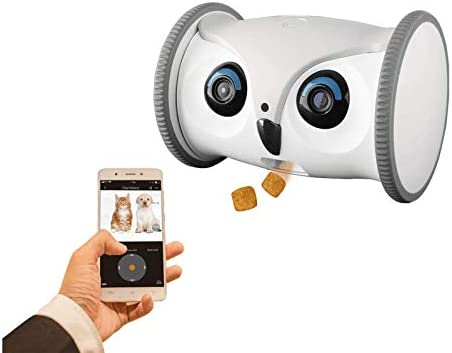 SKYMEE Owl Robot Mobile Full HD Pet Camera with Treat Dispenser Interactive Toy for Dogs and product image