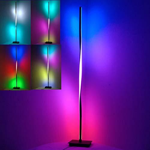 TZUTOGETHER Espiral Lámpara de Pie Moderna 125cm,Lámpara de pie de Esquina LED RGB,Luz de Relleno en Vivo,led Regulable con...