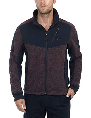 Jeff Green Veste en Maille Polaire Hommes Galway, Taille - Hommes:XXL, Couleur:Chocolate