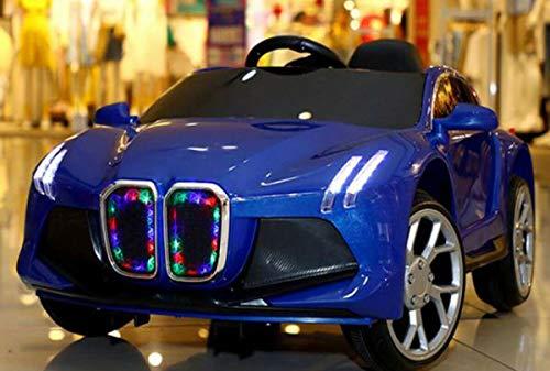GT-LUX Auto Automobile ELETTRICA Sportiva per Bambini 6V con MP3 MONOPOSTO (Blu)