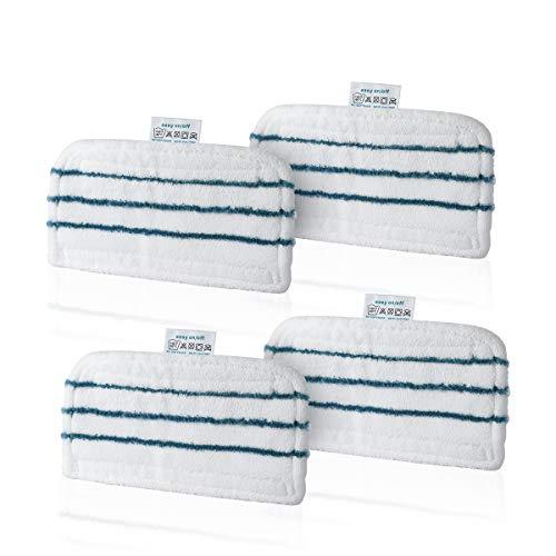 AIEVE 4 Stück Mikrofaser Reinigungspads Pad Ersatzteile für BLACK+DECKER Dampfbesen FSM1630/FSMH1321JMD/FSMH13151SM/FSM1616/FSM1630/FSM1605