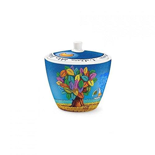 Icalisti pcs41/01 Sucrier, modèle Arbre Felicita, Porcelaine, Multicolore