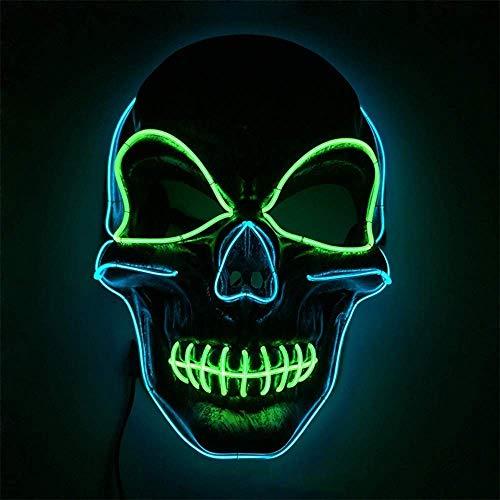 BBJZQ Máscara De Halloween LED Máscaras LED Light Up Purge Mask Máscara Disfraz Luminosa con Luz Fría 3 Modos De Iluminación para La Fiesta De Disfraces Cosplay Máscara De Terror