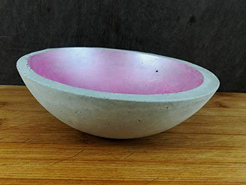 Betonschale Schale Schüssel rund Beton grau rosa