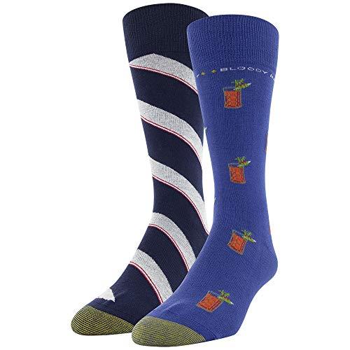 Gold Toe Men's Dress Crew Socks, 2 Pairs, Bloody Mary/Stripe, Shoe Size: 6-12.5 -  GOLDTOE, 3688F