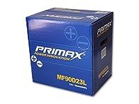 送料無料 即日発送 PRIMAX 新品バッテリー MF90D23L 2年又は4万km 製品補償 55D23L 65D23L 70D23L 75D23L 80D23L 85D23L 適合品