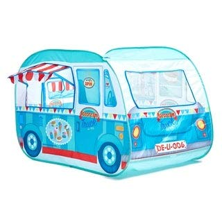 Childrens Pop Up Play Tent Designed like a Ice Cream Van: Girls/Boys Toy Play Tent / Playhouse / Den