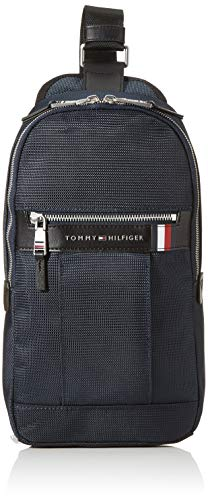 Tommy Hilfiger - Elevated Nylon Slingpack, Mochilas Hombre