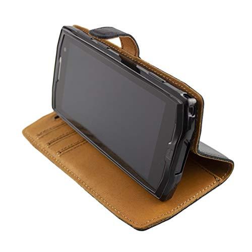 Casco para Crosscall Core-M4 / M4 Go, Bookstyle-Case Funda Protectora a Prueba de Golpes para Smartphone (Carcasa de Color Negro)