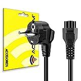 Cable de alimentación con 3 Clavijas para Ordenador portátil, Cable Schuko CEE7 a C5 Hoja de trébol