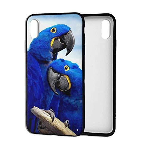 Aurora Ni telefoonhoesje blauw papegaai knuffelen premium zacht hoesje schokbestendig dun beschermende bumper voor iPhone Xs Max