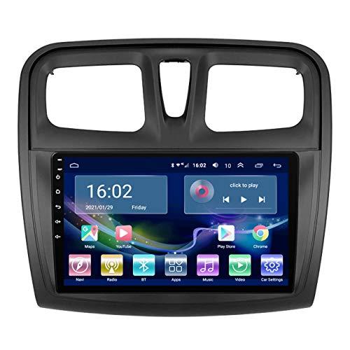Auto-GPS-Navigation, Android 10 Multimedia Player Auto für Renault Sandero 2014-2019, mit Rückfahrkamera, Unterstützung der originalen Lenkradsteuerung,4g+wifi 1g+32g