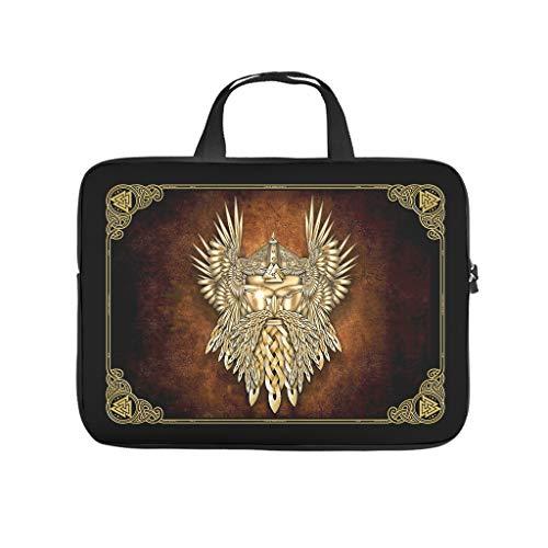 Water Resistant Viking Odin Golden Laptop Sleeve Case Protective Bag Laptop Bag Case - for Men Women Boys Girls White 10 Zoll
