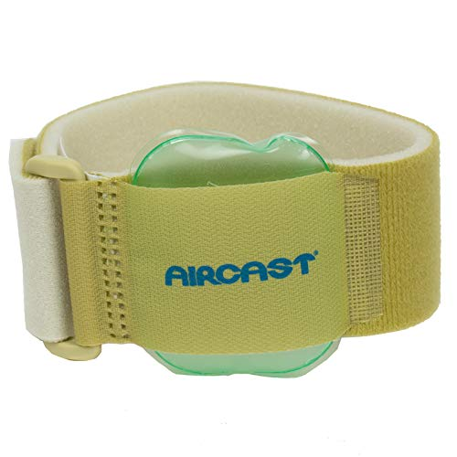 Aircast 12242 Pneumatic Armband, For Elbow, Wrist, Forearm Injuries, and Epicondylitis, Beige