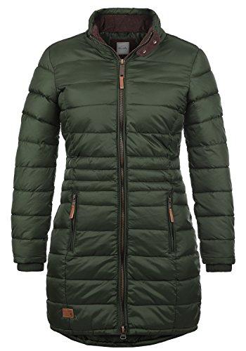 BlendShe Carlotta Chaqueta Acolchada De Plumas Abrigo Parka para Mujer con Cuello Alto, tamaño:S, Color:Duffle Bag Green (77019)