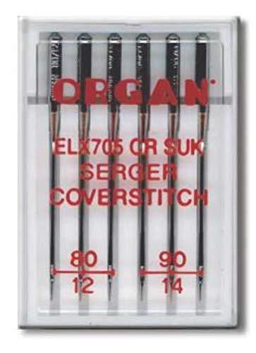 Organ EL x 705 CR SUK - Agujas para Babylock Overlock y Coverlock