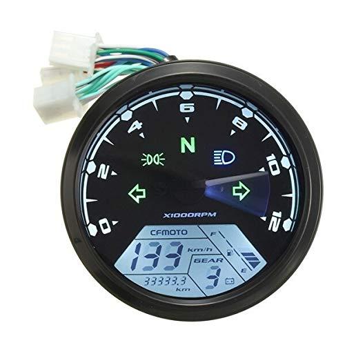 U/D HKRSTSXJ 12000RMP LCD Digital del odómetro del velocímetro de la Motocicleta 1-4 Cilindros de Resistencia de Alta presión Motor Instrumentos
