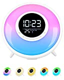Sunrise Alarm Clock Sound Machine with FM Radio, Touch Control Night Light, Sleep