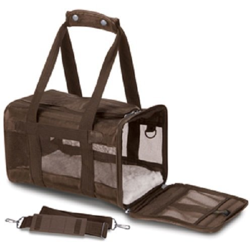Sherpa Original Deluxe Pet Carriers with Bonus Travel Port-A-Bowl (Brown, Large)