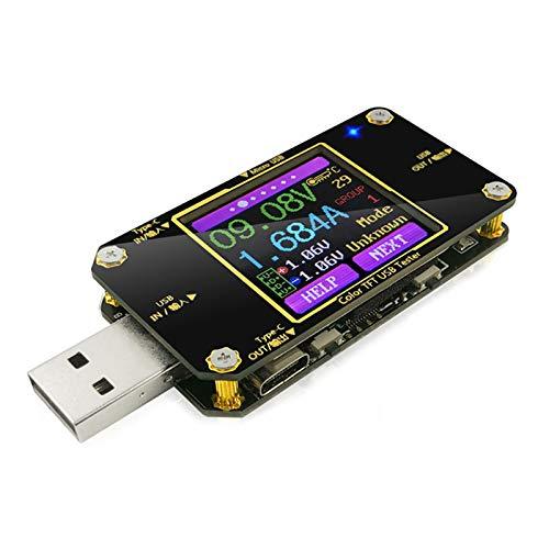 Innovateking-EU Voltaje USB y probador de Corriente con Bluetooth Multímetro Digital Amperímetro USB Multifuncional probador voltímetro