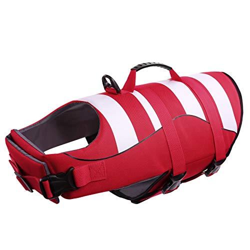 CITÉTOILE Schwimmwesten für Hunde mit Griff, Guter Auftrieb, Verstellbare, Leichte, Atmungsaktive und Bequeme, Schützen Sie Hunde beim Schwimmen im Meer/See/Fluss, L