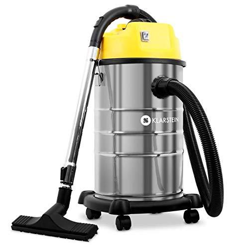 Klarstein IVC-30 - Aspirador Industrial, Seco y húmedo, Doble Motor,...