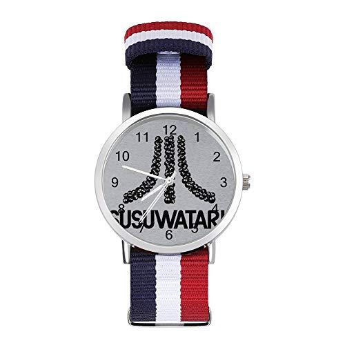Susuwatari - Reloj de pulsera trenzado, diseño de consola de juegos con...