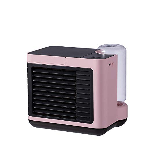 Ricaricabile Ion Ion Depurazione dell'aria Umidificazione dell'umidificazione della ventola di raffreddamento Mini ventola di raffreddamento Desktop Aria condizionata Ventola-Rosa