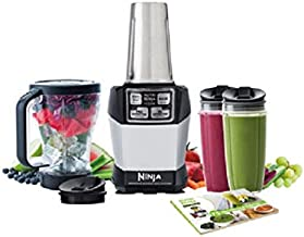 Ninja BL486 Personal Blender 1000-Watt Auto-iQ Base to Extract Nutrients for Smoothies/Juices and Shakes with (2) Stainless Steel 24 oz Cup and (1), 48 oz, Multi Serve Jar (Certified Refurbished),