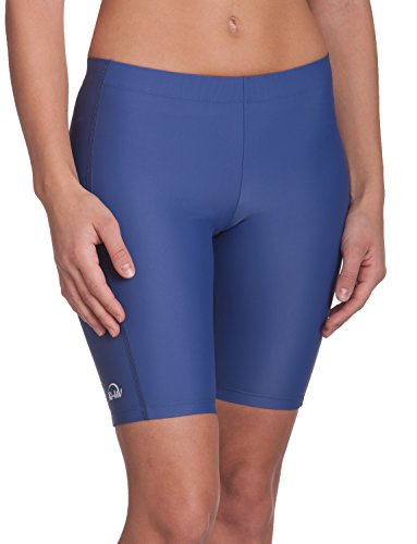 IQ-Company Damen Bikinihosen UV Kleidung 300 Shorts, blau, XS (36)
