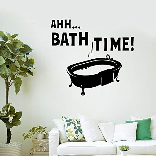 Tianpengyuanshuai badkamer tijd wandtattoo badkamer waterdicht wooncultuur vinyl raam sticker badkuip badkamer douche belettering muurschildering