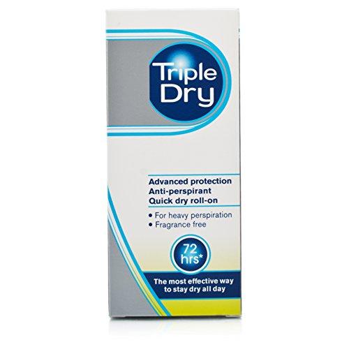 Tripple Dry 72 Stunden, Herren-Deodorant, extra Schutz, Anti-Transpirant, schnelltrocknend, Roll-On, 50ml