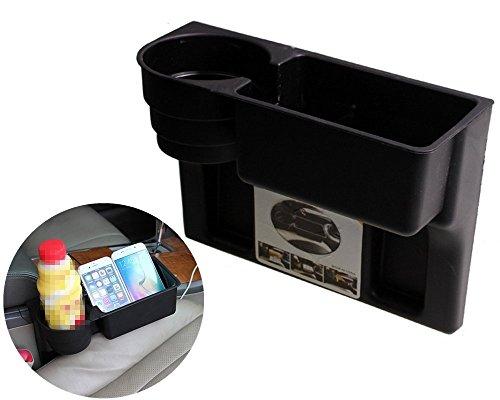 Chytaii Boîte de Rangement pour Voiture Support Multifonctionnel de Voiture en Plastique pour Gobelet (Noir) Matières Plastiques