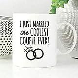 N\A Taza de café Regalo de Boda Divertido Me Acabo de Casar con la Pareja más Genial de la Historia