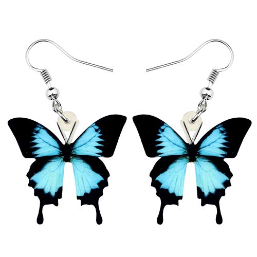 NA - Pendientes acrílicos de mariposa, grandes dangle Drop Anime Insectos, joyas para