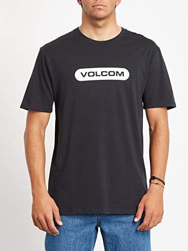 Volcom New Euro BSC SS Camiseta de Manga Corta, Hombre, Black, S