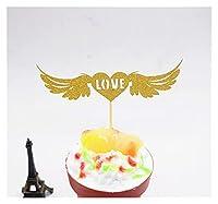 Alowa ケーキトッパー, キラキラの花嫁は愛の心の結婚式のケーキトッパー夫人のお土産の誕生日パーティーの装飾ラッパーベビーシャワーセンターピース (Color : Style 9)