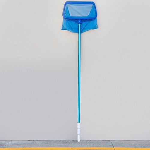 New KCHEX>3 Piece Pool Pole Leaf Rack Swimming Telescopic Vacuum Spa Adjustable 5'-15' ft and functi...