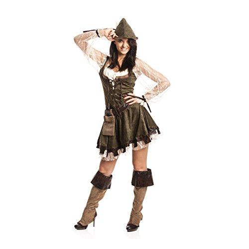 Kostümplanet® Robin Hood Kostüm Damen sexy komplettes Faschingskostüm Damen-Kostüm Karneval Mittelalter Outfit Bogenschützin große Größe 56/58