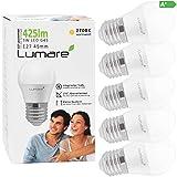 Lumare E27 LED Lampe 5W ersetzt 40 Watt warmweiß 5er-Pack G45 Glühbirne 425 Lumen Energiesparlampe 270° LED Birne 5 Watt Leuchtmittel Glühbirne 2700K