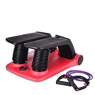 Air Stepper with Fitness Bands Climber Exercise Fitness Thigh Machine, Fitness & Bodybuilding, Shipping from The United States (Red)