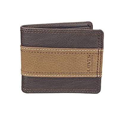 Levi's Men's RFID Security Blocking Traveler Wallet, brown tone, One Size
