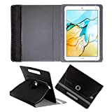 Fastway Rotating Leather Flip Case for Honor Pad 5 8inch 4G Tablet Cover Stand (Black)